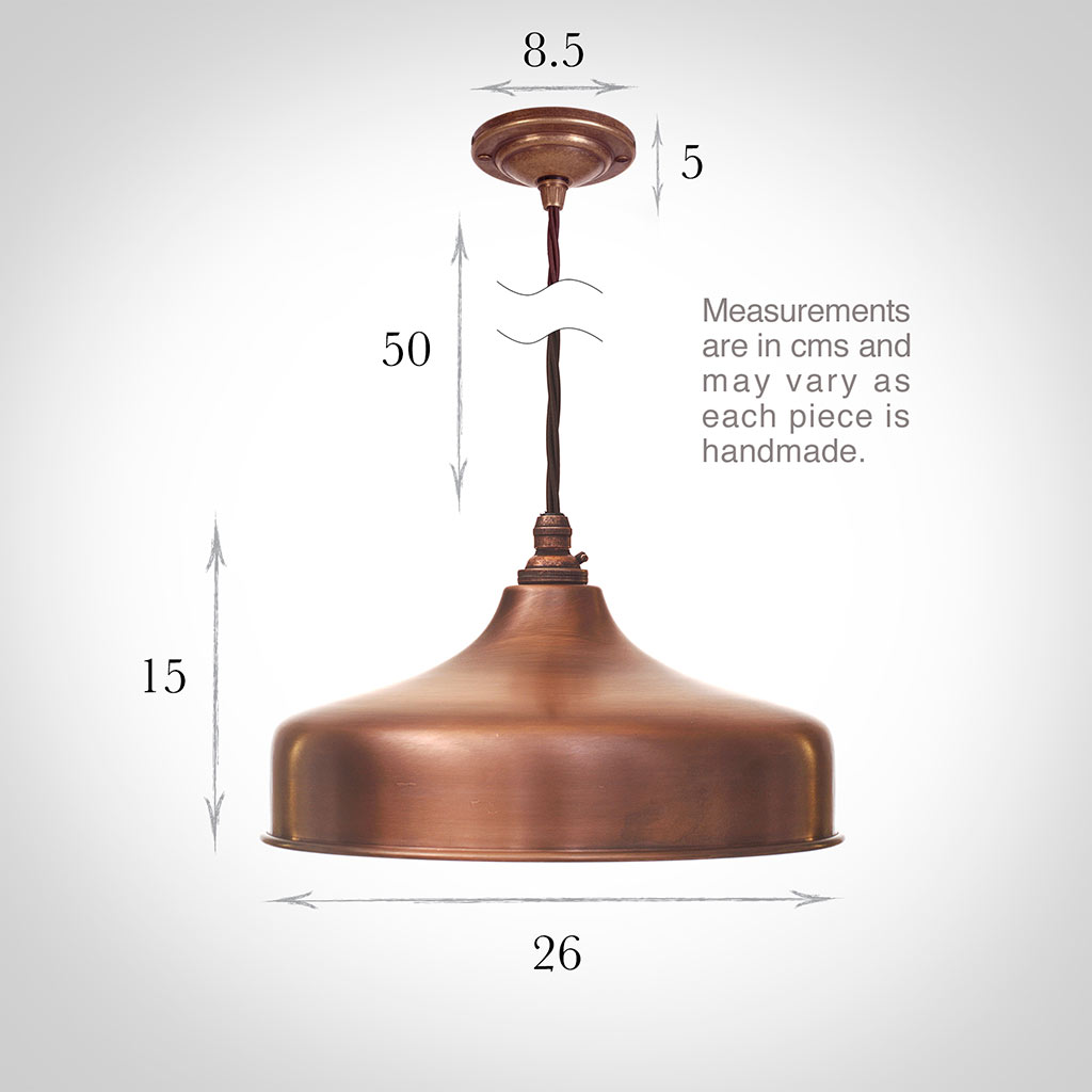 Exeter Pendant Light in Heritage Copper