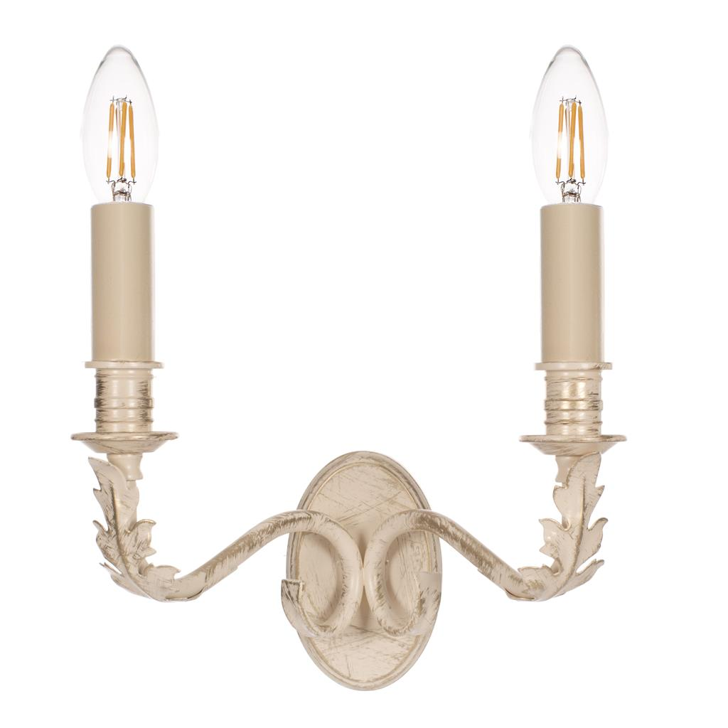 Double Fleur Wall Light in Old Ivory