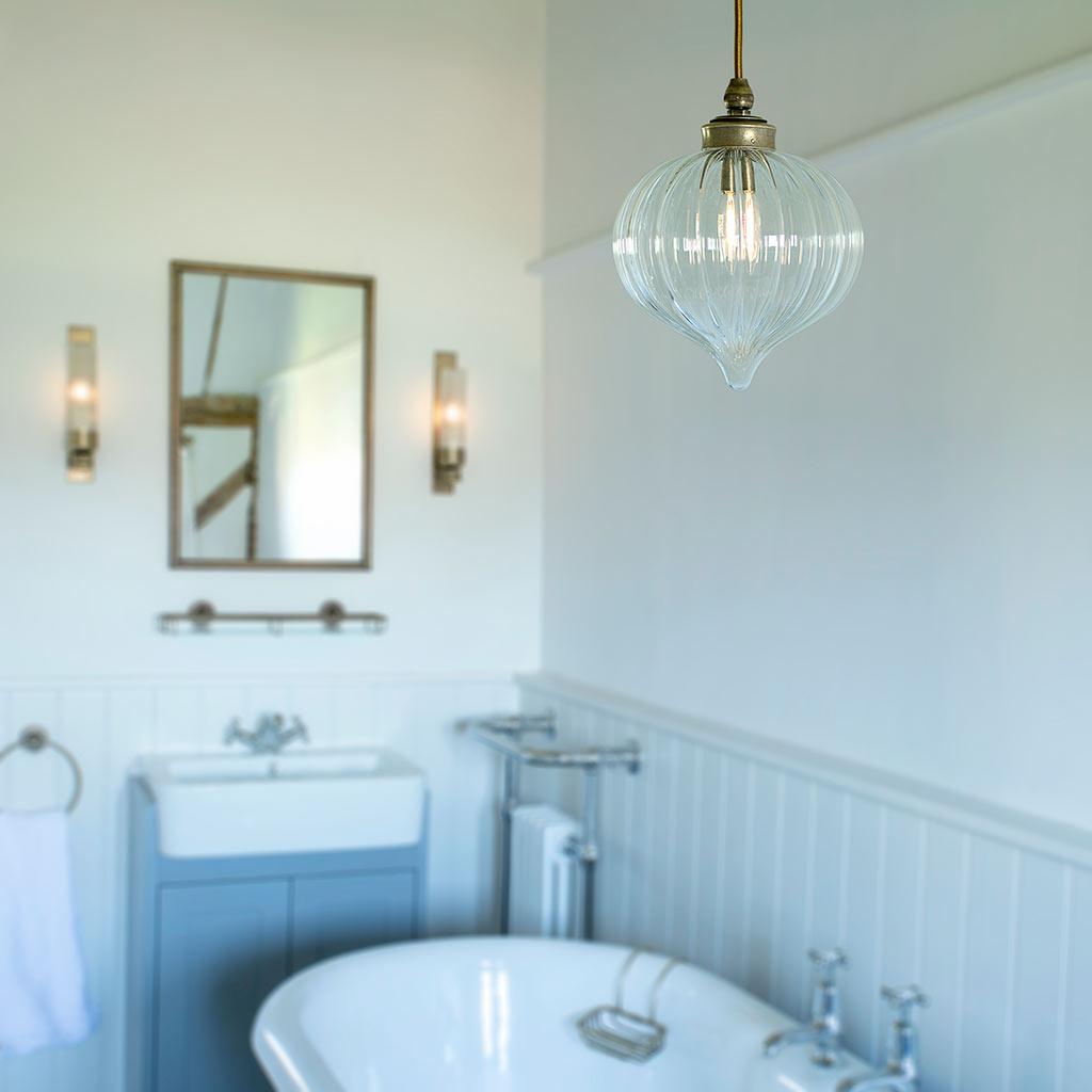 Ava Brass Bathroom Pendant Bathroom Pendant Lighting