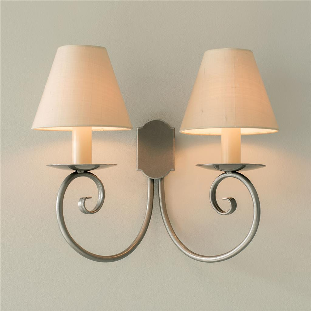 Double Scrolled Wall Light in Polished