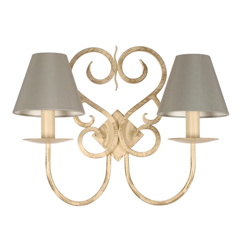 Double Jalousie Wall Light in Old Ivory