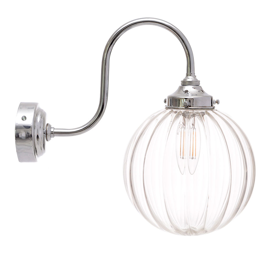 Putney Wall Light in Nickel