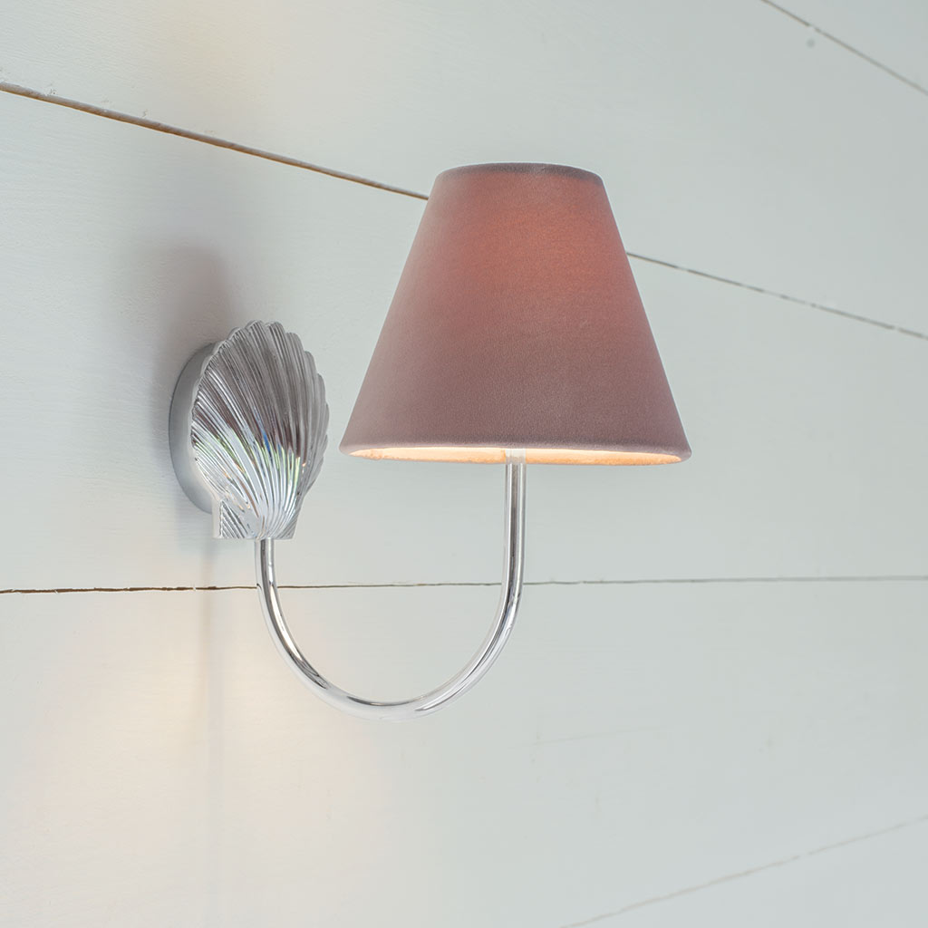 Single Saunton Bathroom Wall Light in Nickel