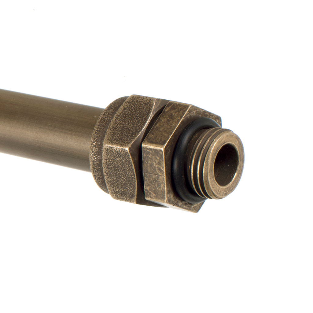 Conduit Coupler in Antiqued Brass