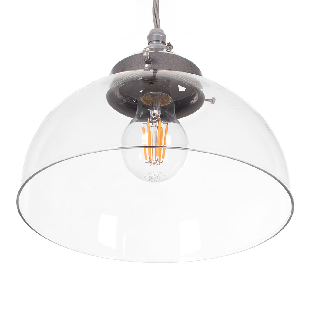 Shotley Glass Pendant Light in Polished