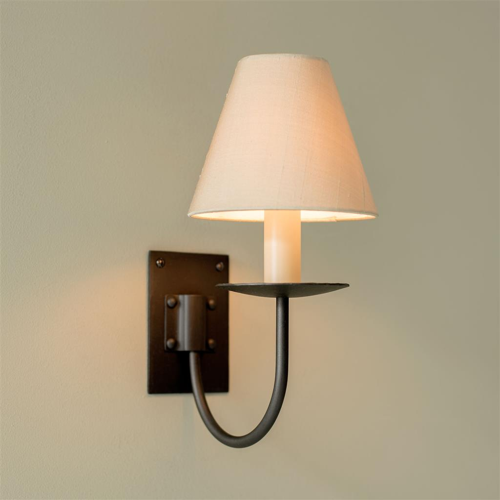 Single Smuggler's Wall Light in Matt Black