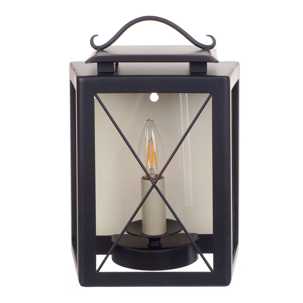 Coach Lantern in Matt Black