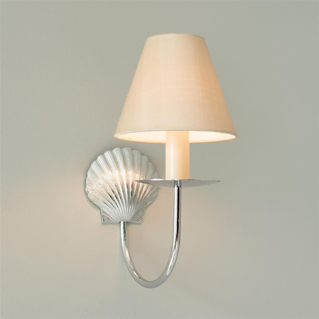 Single Shell Wall Light in Nickel Plate