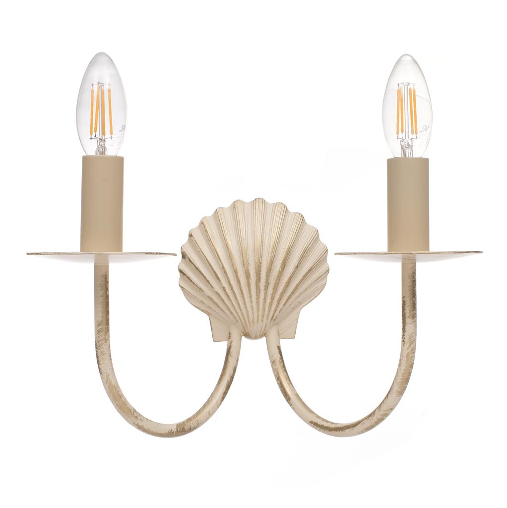 Double Shell Wall Light in Old Ivory