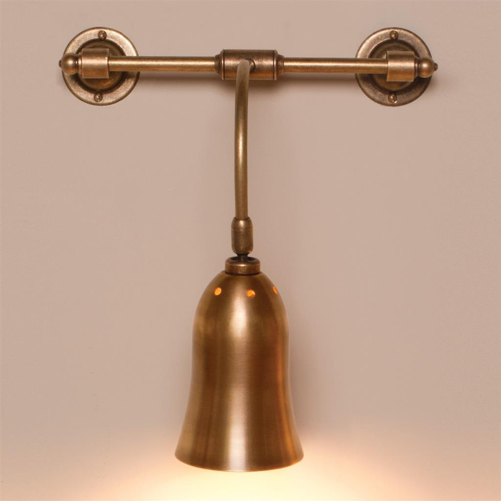 Single Howard Light in Antiqued Brass