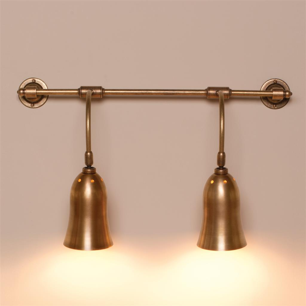 Double Howard Light in Antiqued Brass