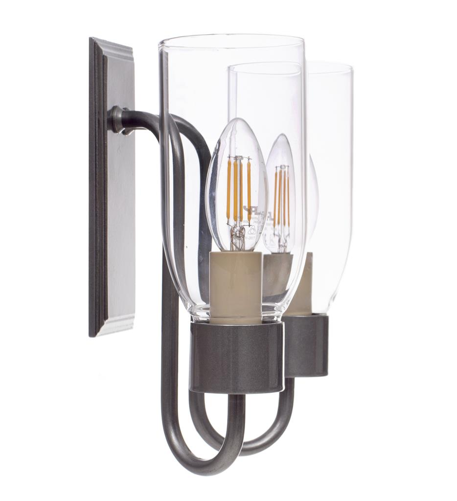 Double Morston Wall Light in Polished with Clear Glass