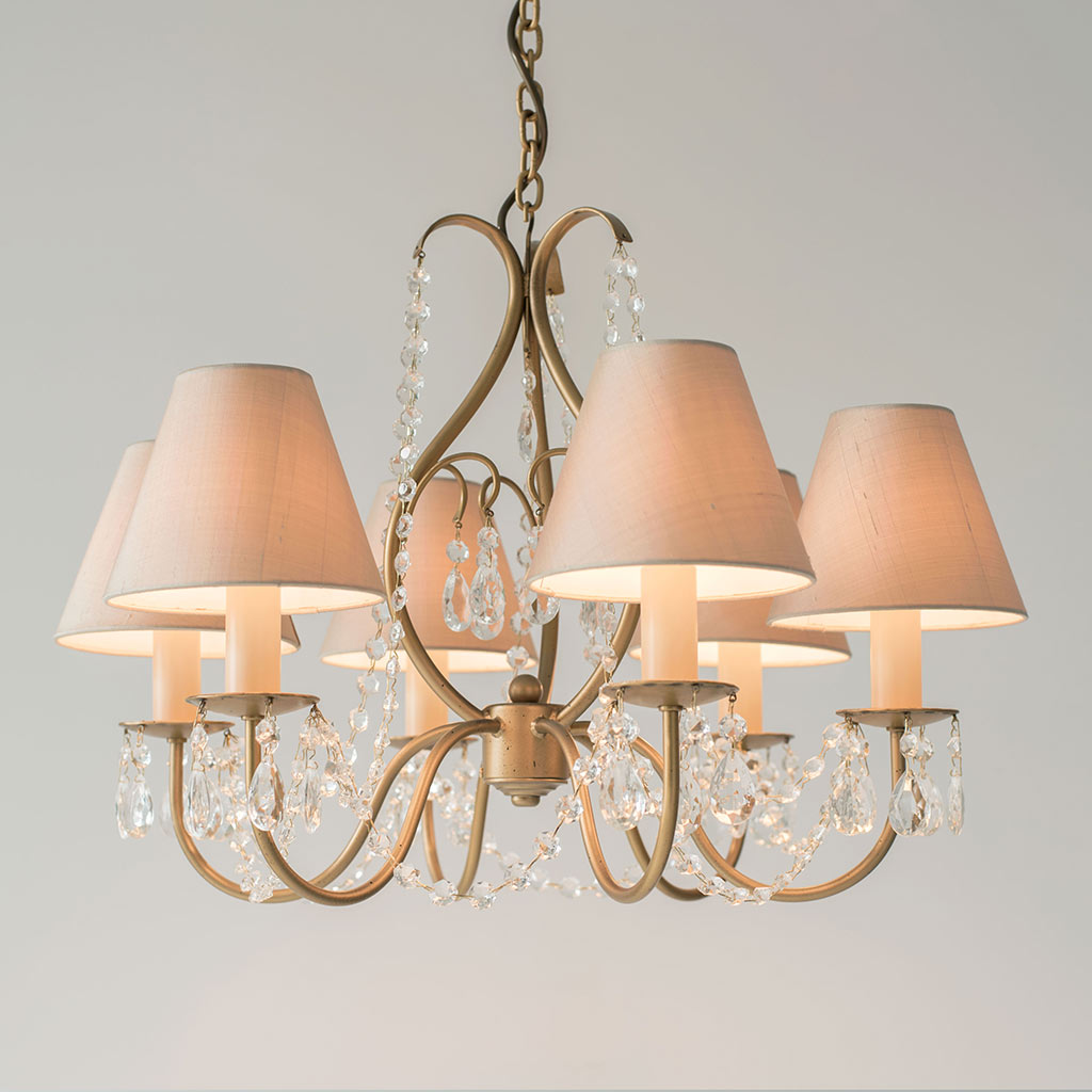 Queensbury Pendant Light with Octagons in Old Gold