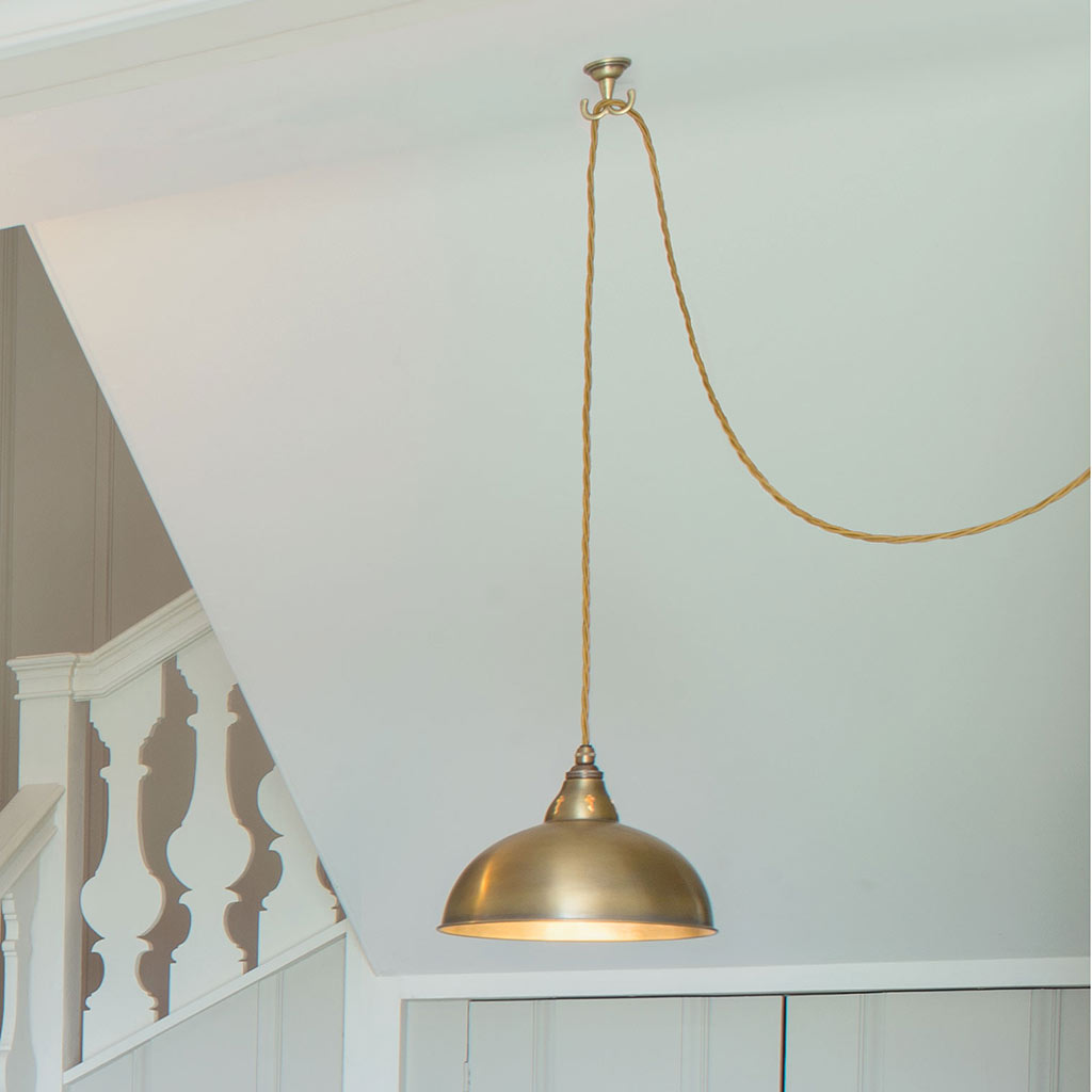 Brass pendant flex ceiling hook swag a ceiling light jim lawrence 3841ab 31g mozeypictures Images