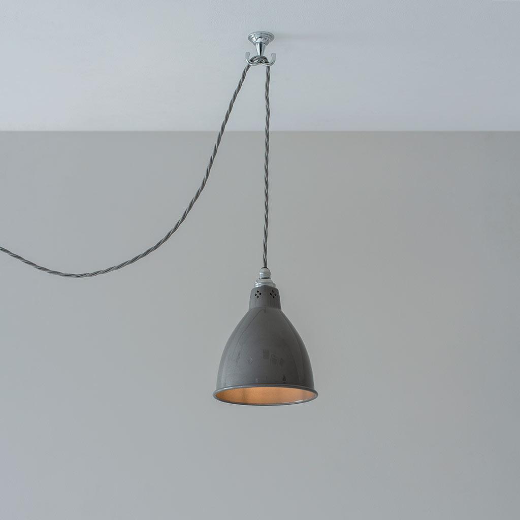 Nickel Pendant Flex Ceiling Hook