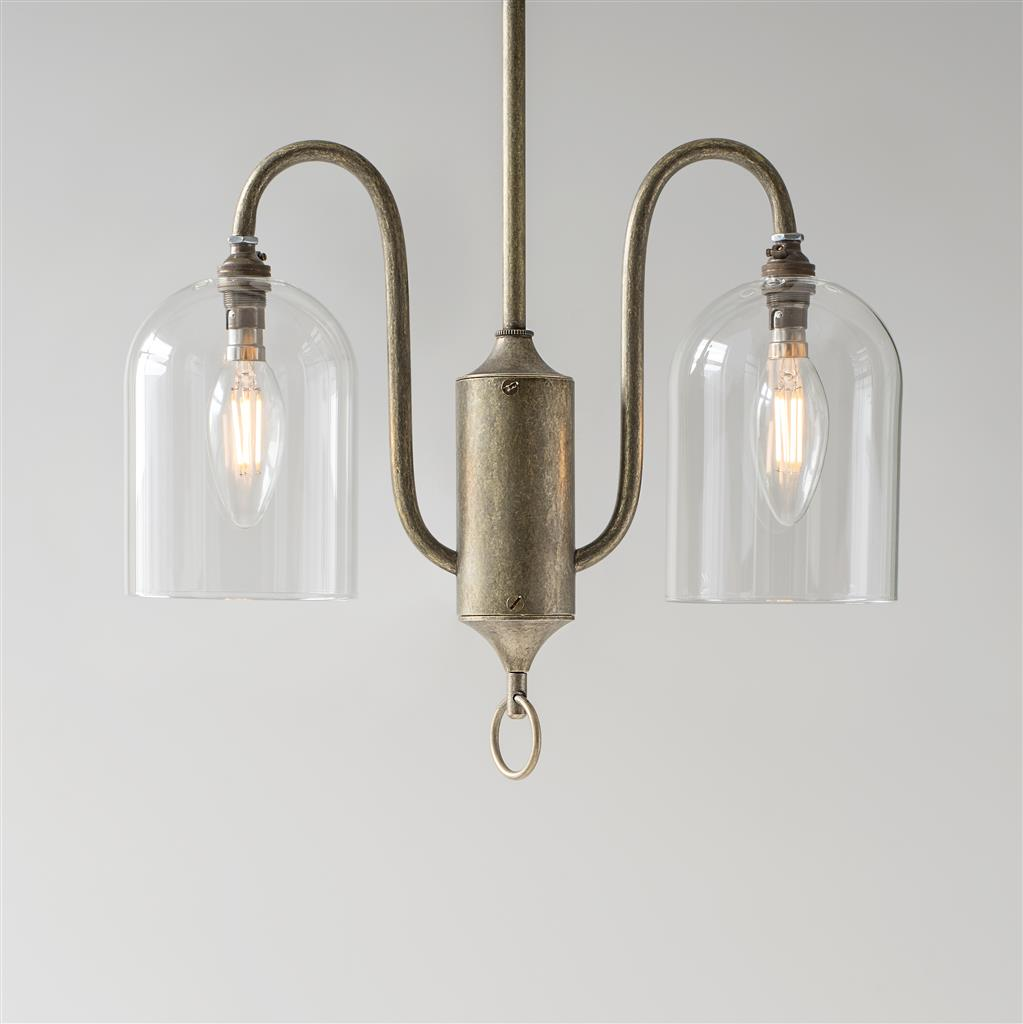 Kersey Pendant Light in Antiqued Brass