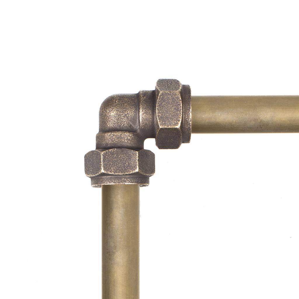 Conduit Elbow in Antiqued Brass