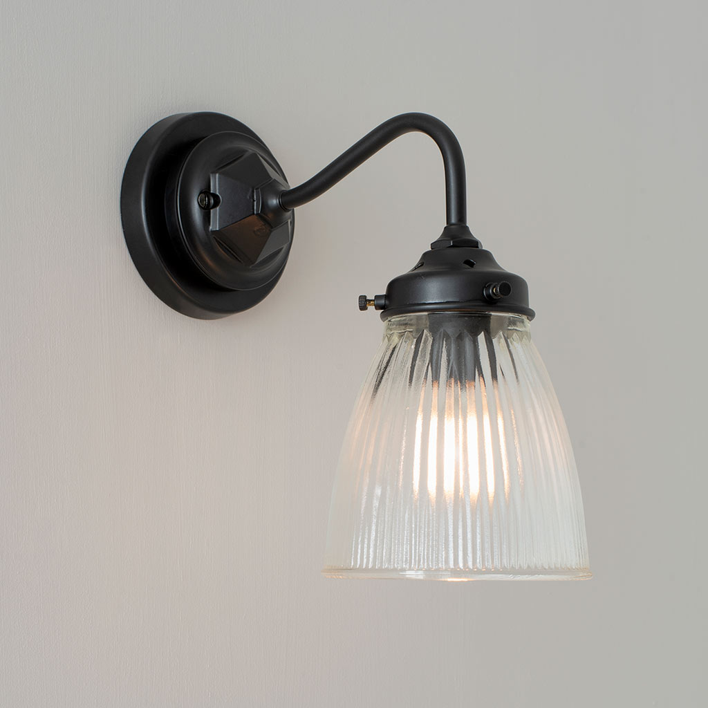 Club/Holt/Fisher Lighting Pattress in Matt Black