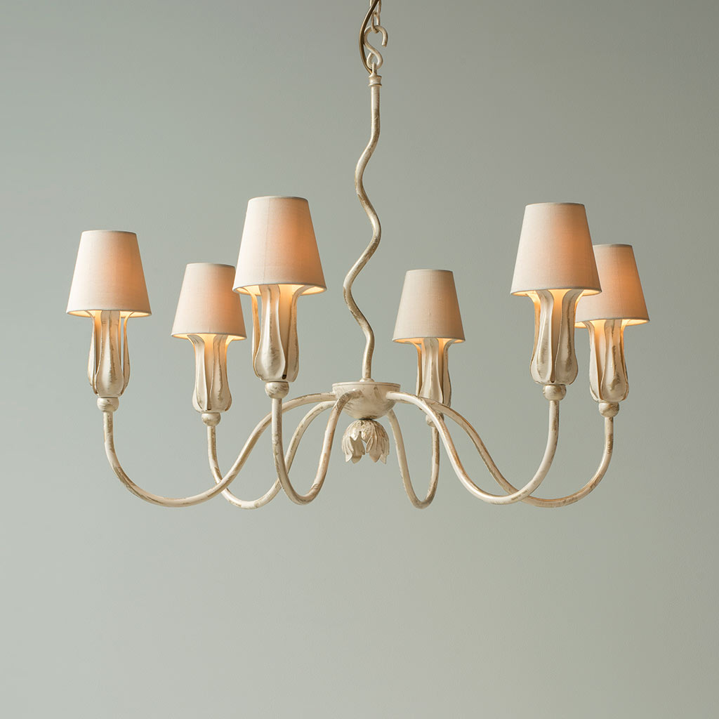 Tulip Pendant Light in Old Ivory