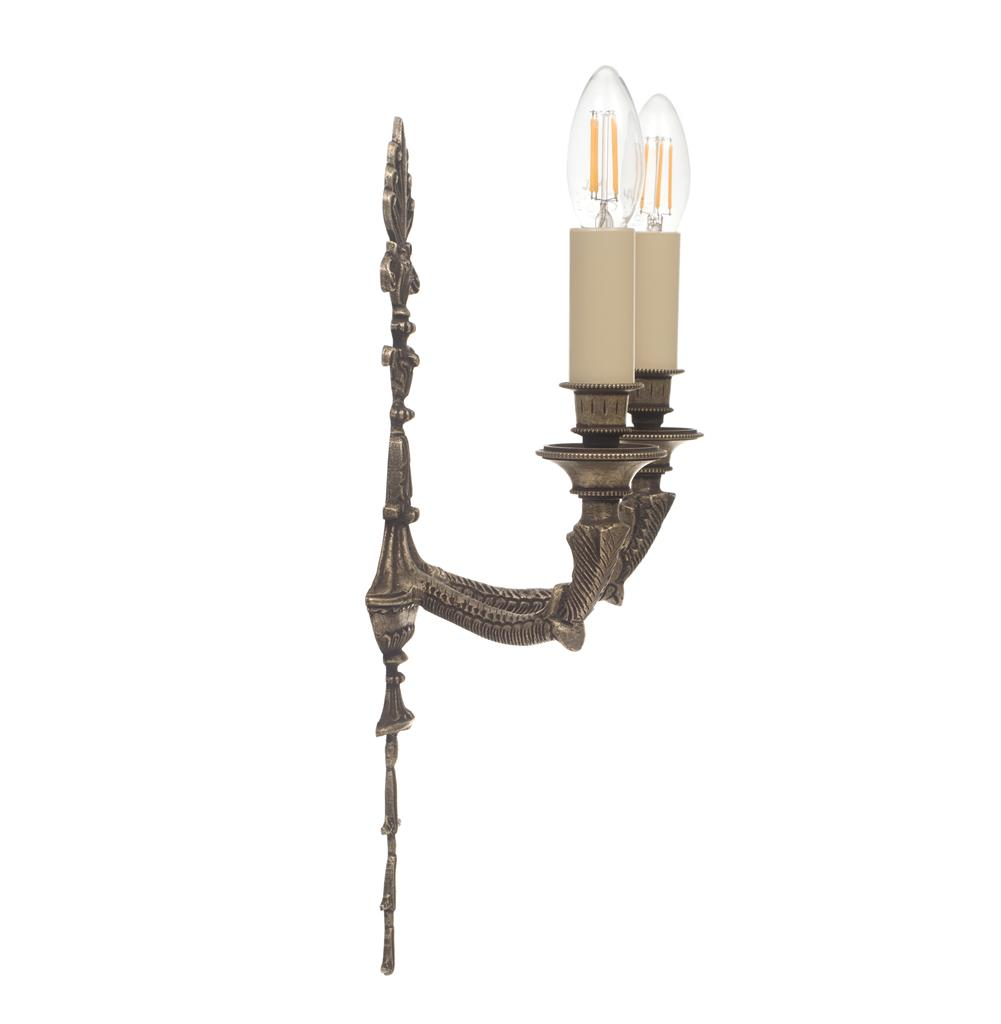 Versailles Wall Light in Antiqued Brass