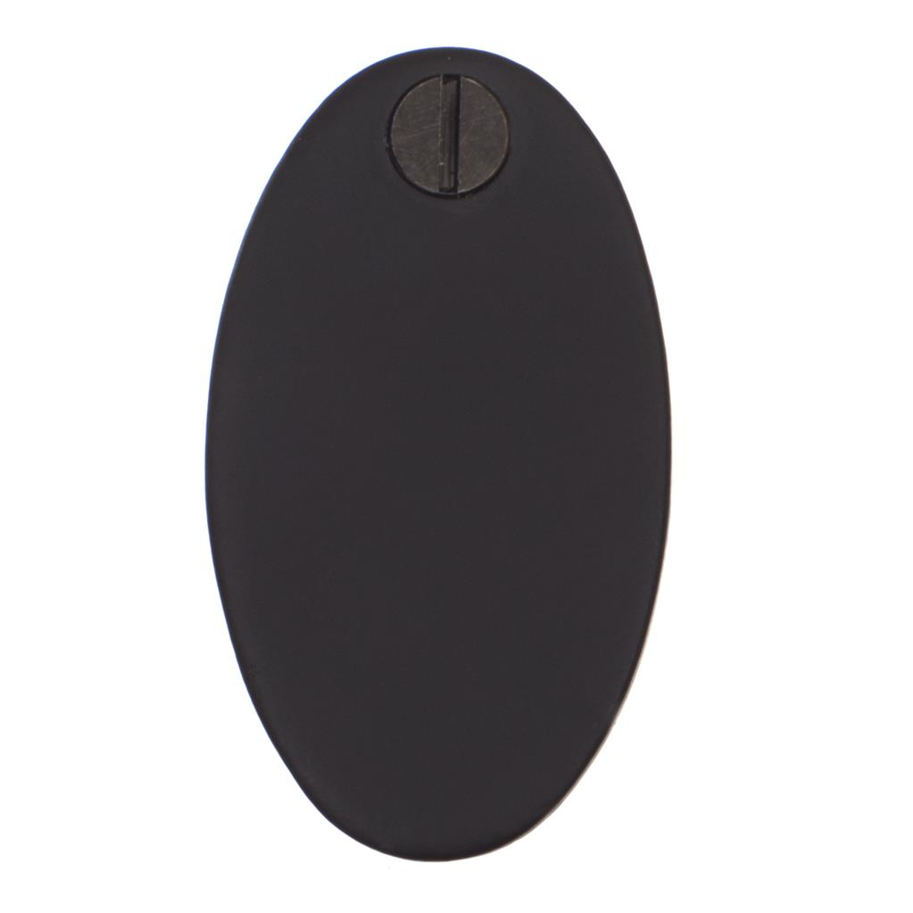 Priory Escutcheon Plate with Flap in Matt Black