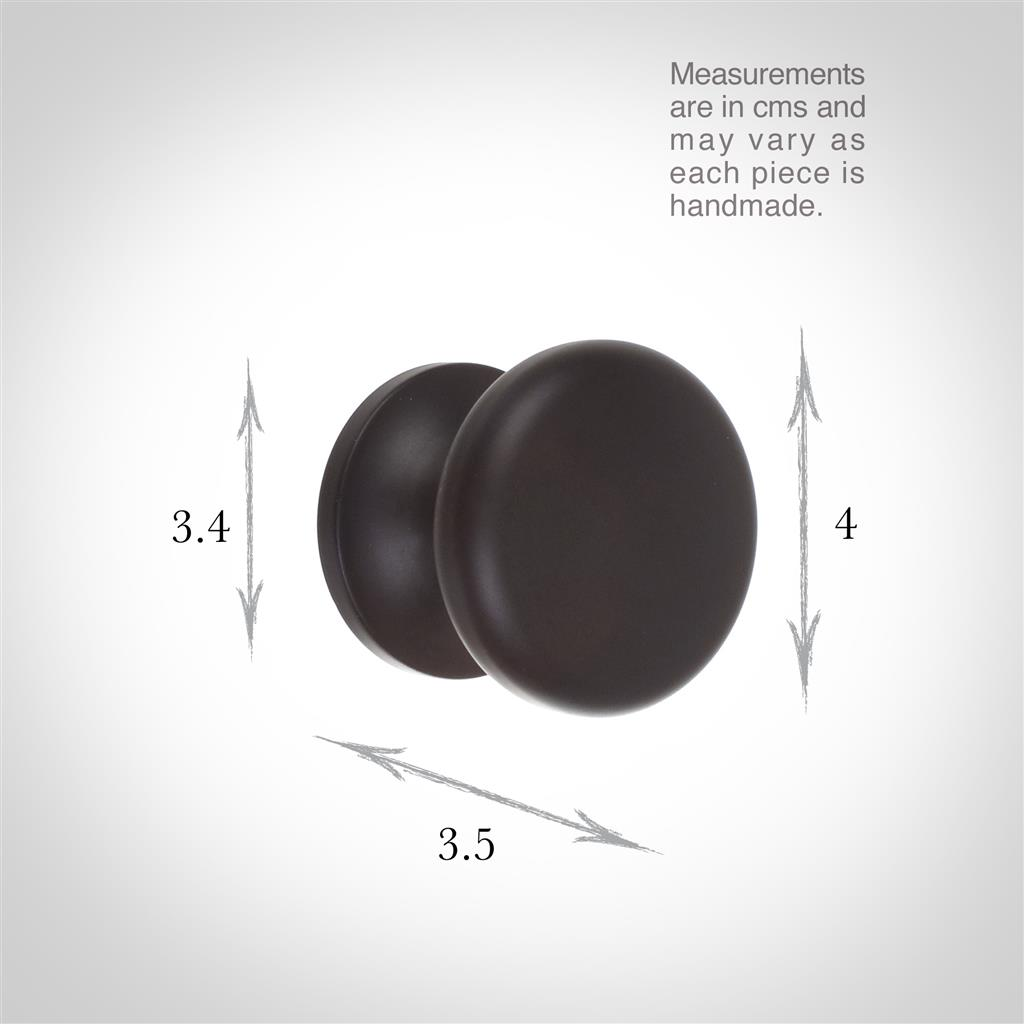 Large Napier Cupboard Knob in Matt Black