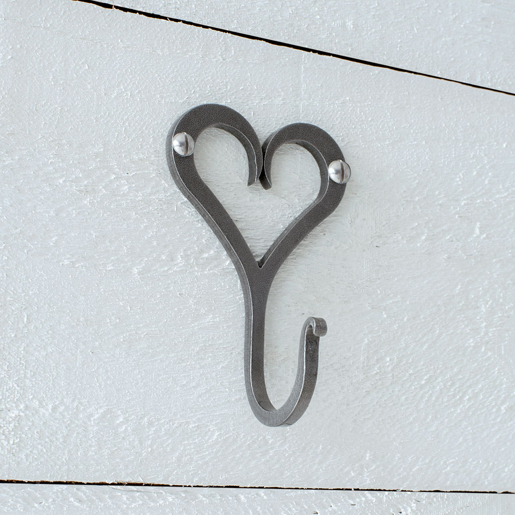 Forged Heart Hook in Polished