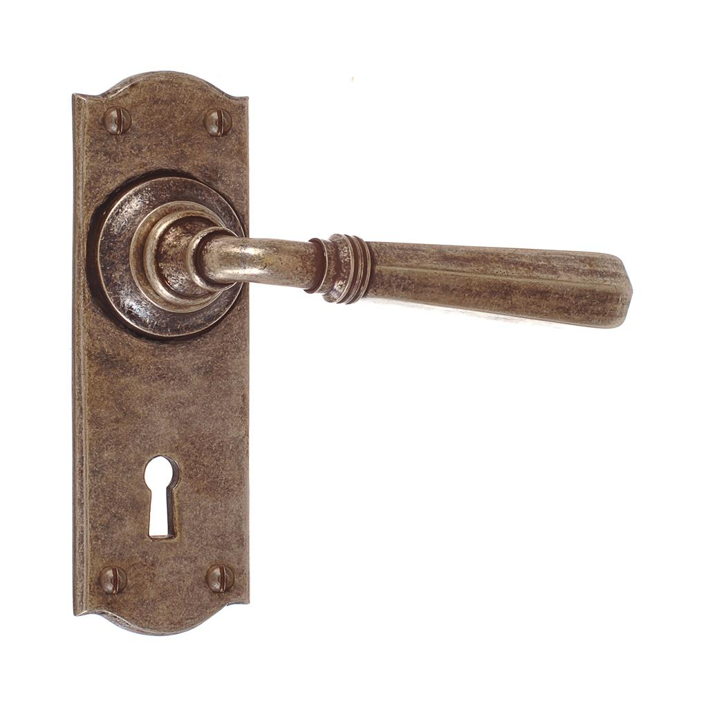 Chester Handle, Nowton Keyhole Plate, Antiqued Brass