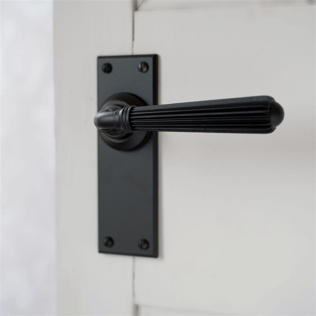 Bromley Handle, Bristol Plain Plate, Matt Black