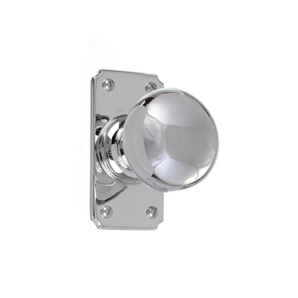 Holkham Door Knob, Ilkley Short Plate, Nickel