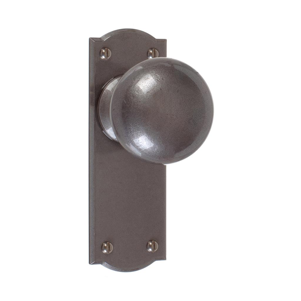 Holkham Door Knob, Nowton Plain Plate, Polished