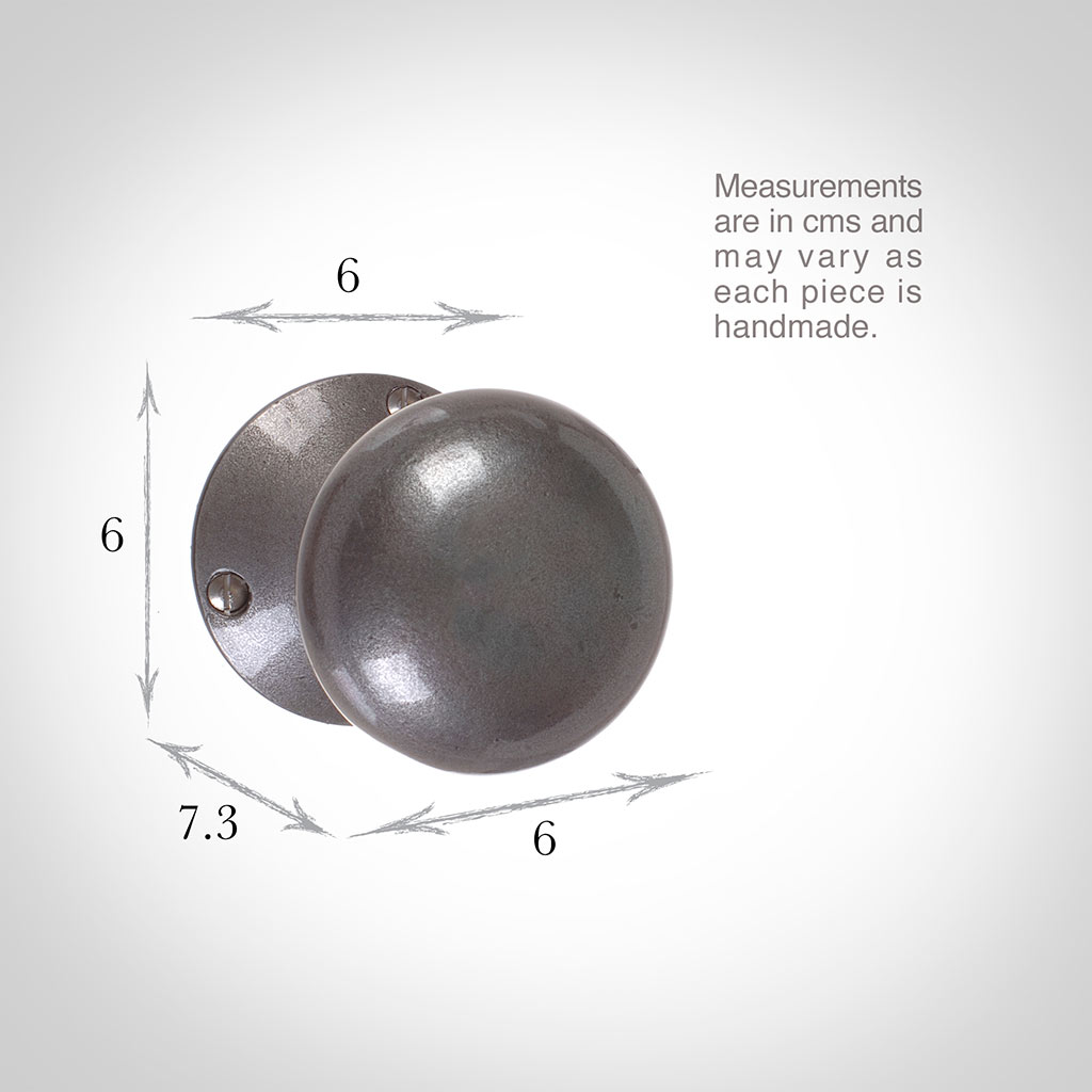 Holkham Door Knob, Rowley Plate, Polished