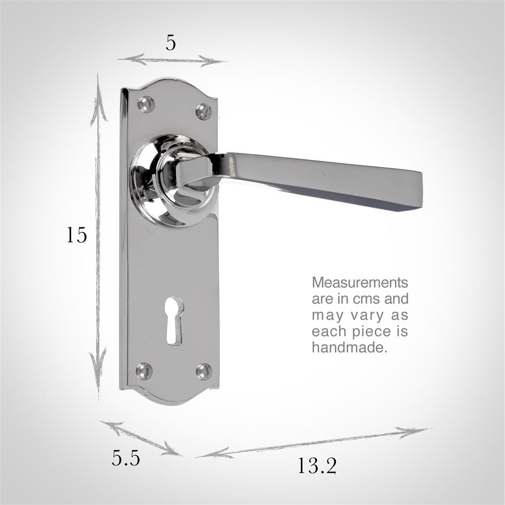 Manson Handle, Nowton Keyhole Plate, Nickel