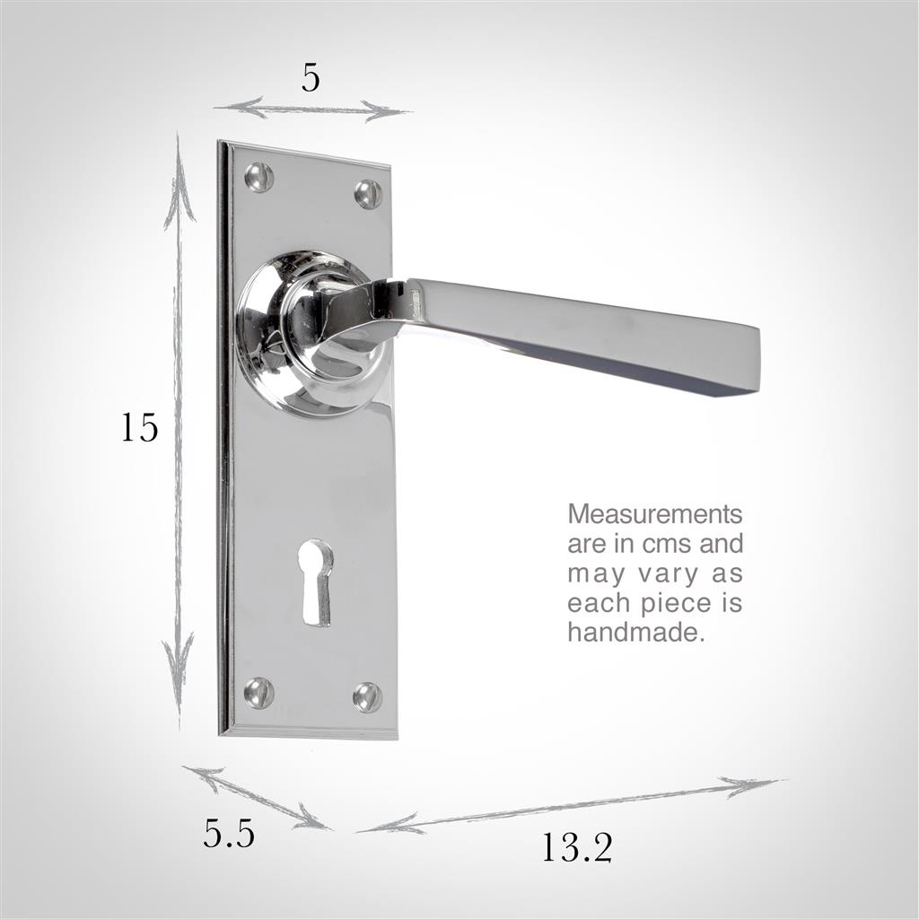 Manson Handle, Ripley Keyhole Plate, Nickel