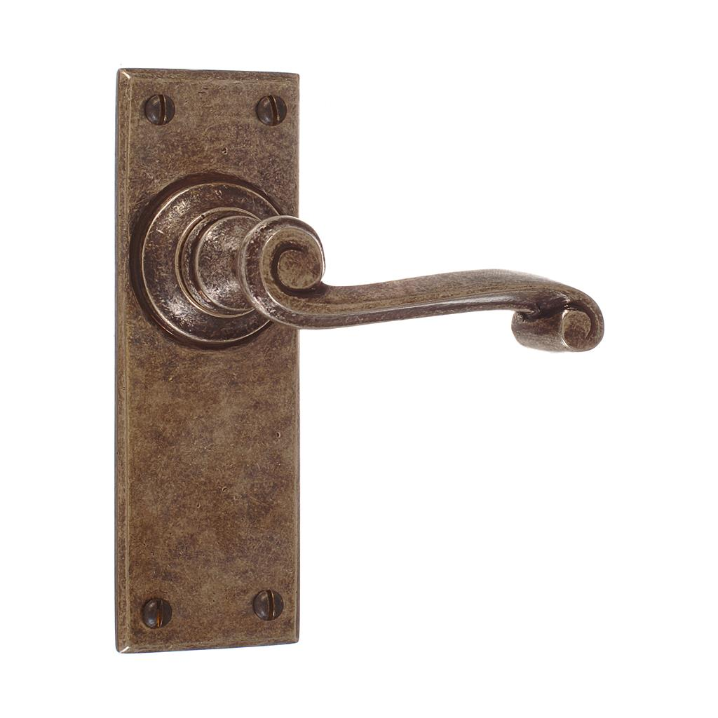 Regency Handle, Bristol Plain Plate, Antiqued Brass