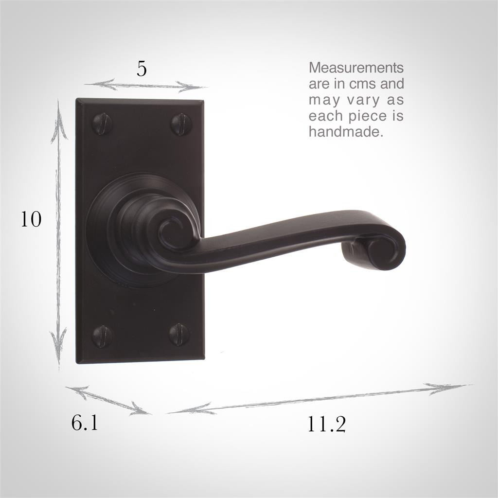 Regency Handle, Bristol Short Plate, Matt Black