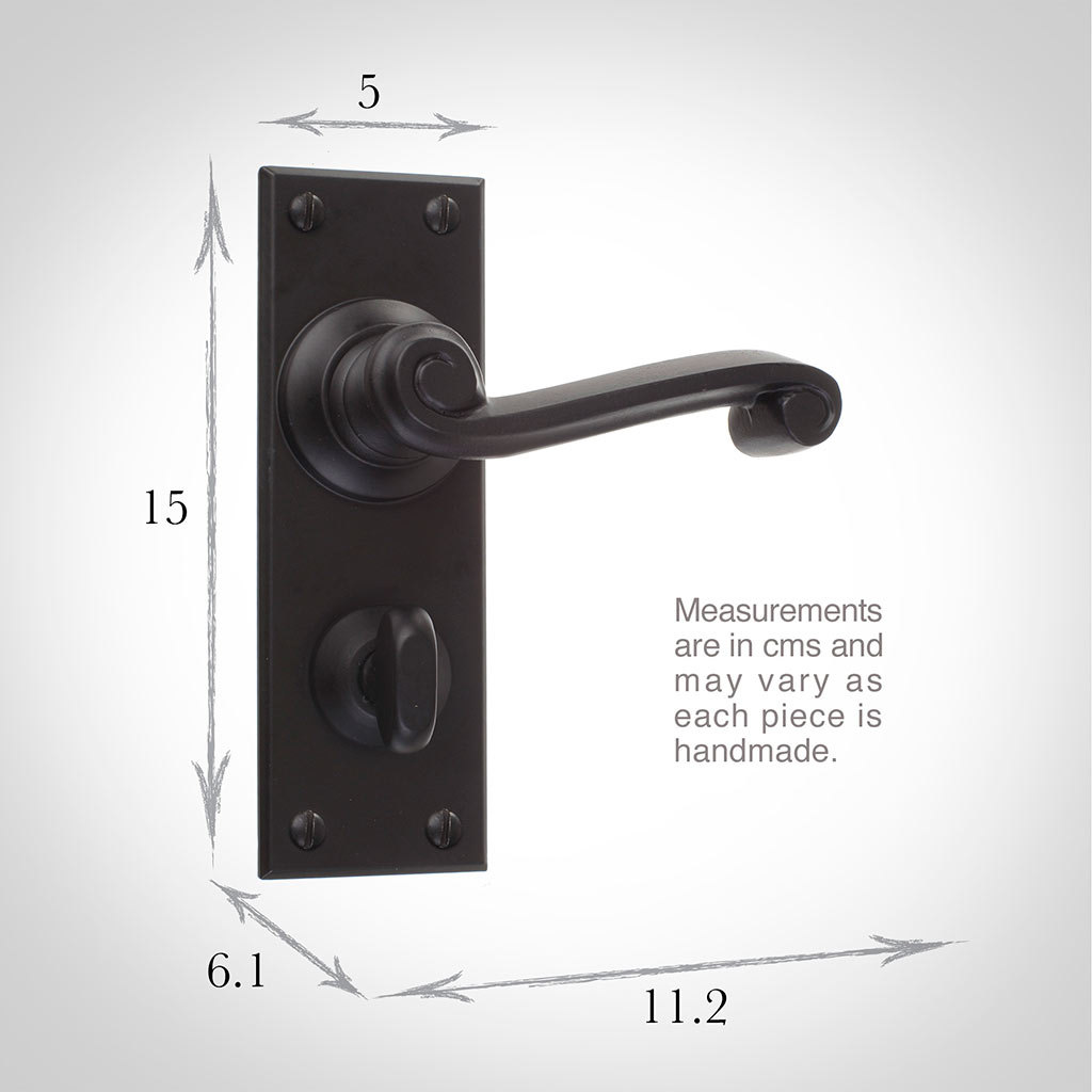 Regency Handle, Bristol Privacy Plate, Matt Black
