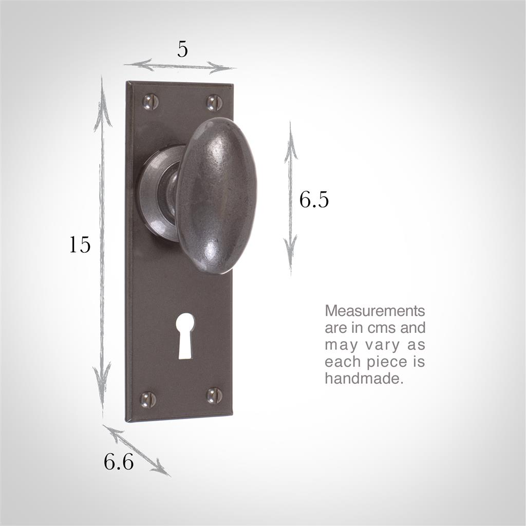 Downley Knob, Bristol Keyhole Plate, Polished