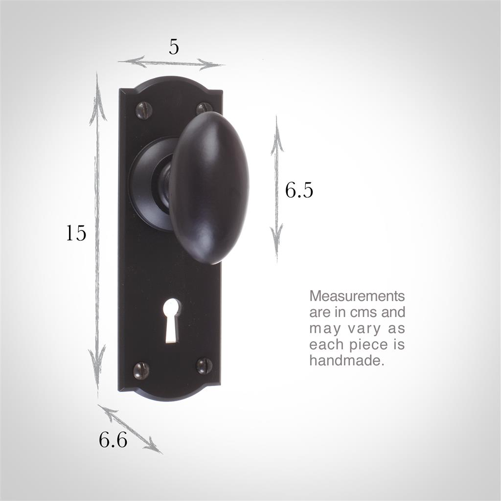 Downley Knob, Nowton Keyhole Plate, Matt Black