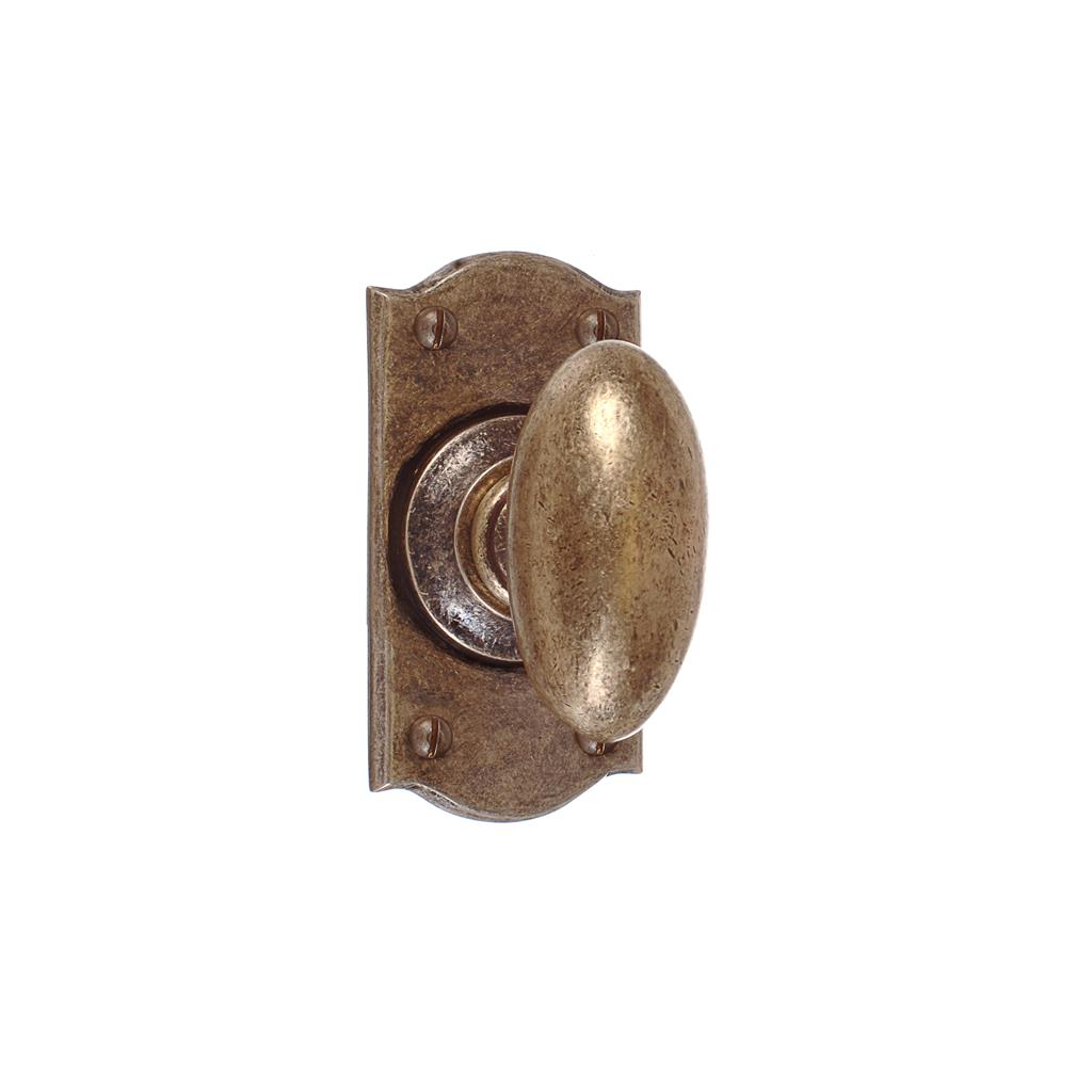 Downley Knob, Nowton Short Plate, Antiqued Brass