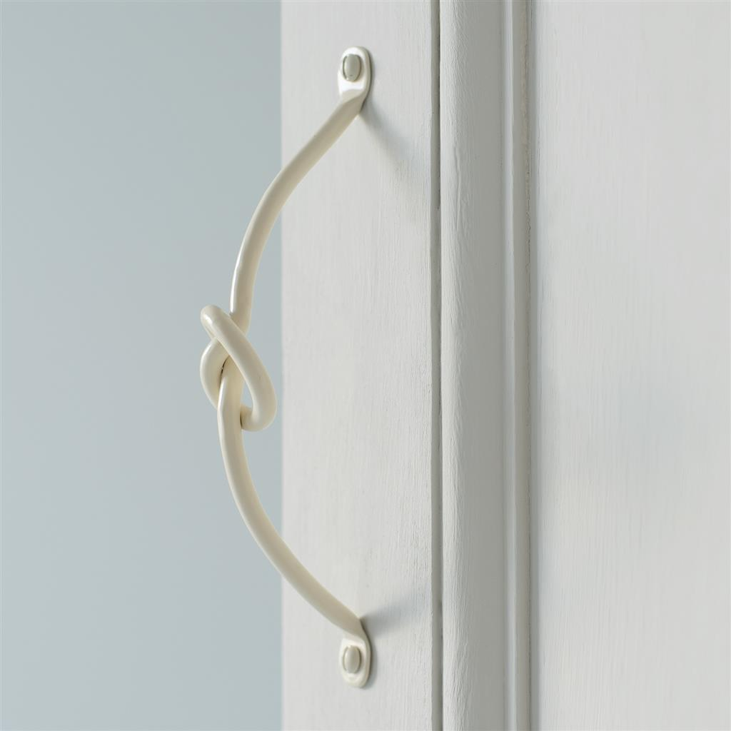 Knotted Handle, 18cm long, in Plain Ivory