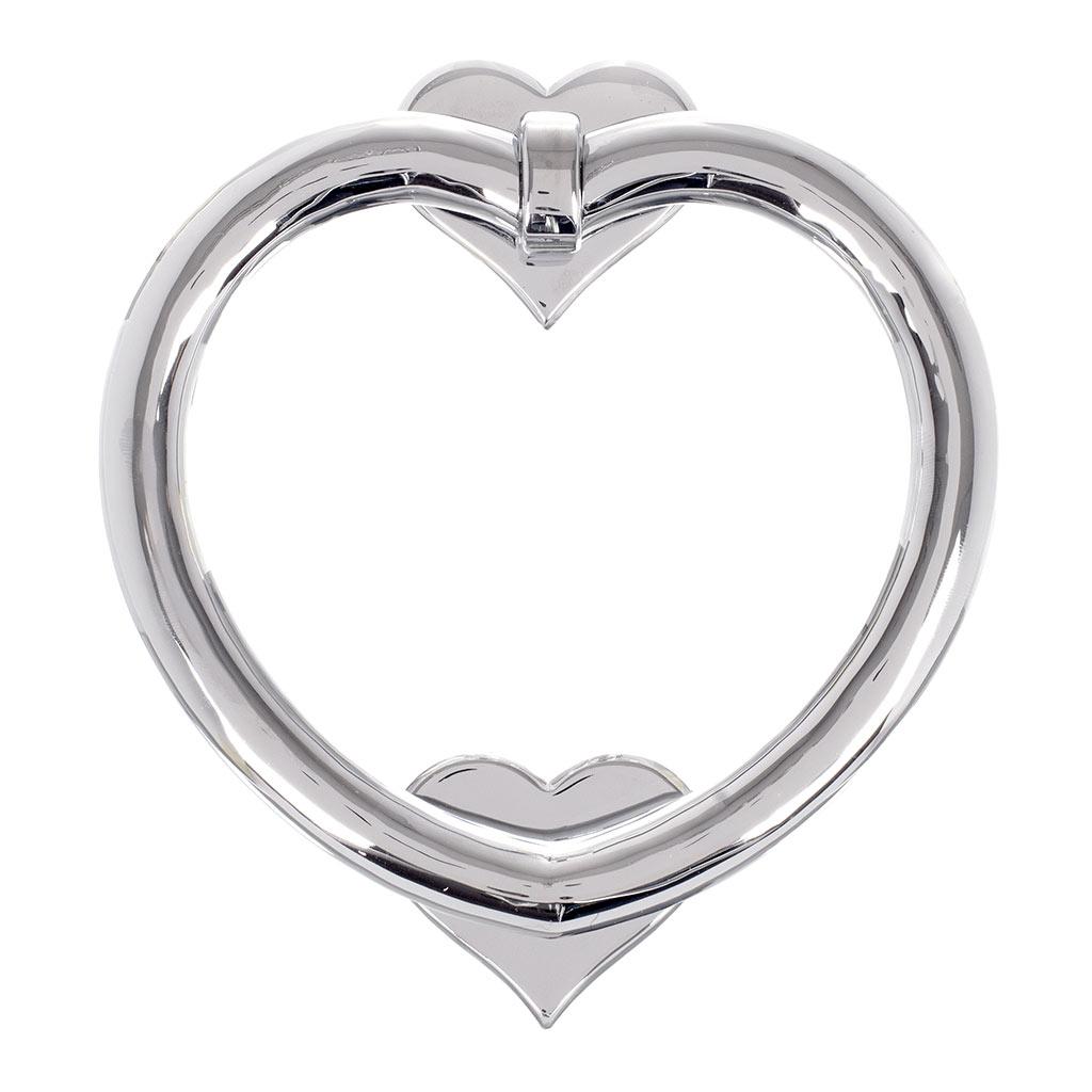 Nickel heart door knocker front door accessories jim lawrence - Nickel door knocker ...