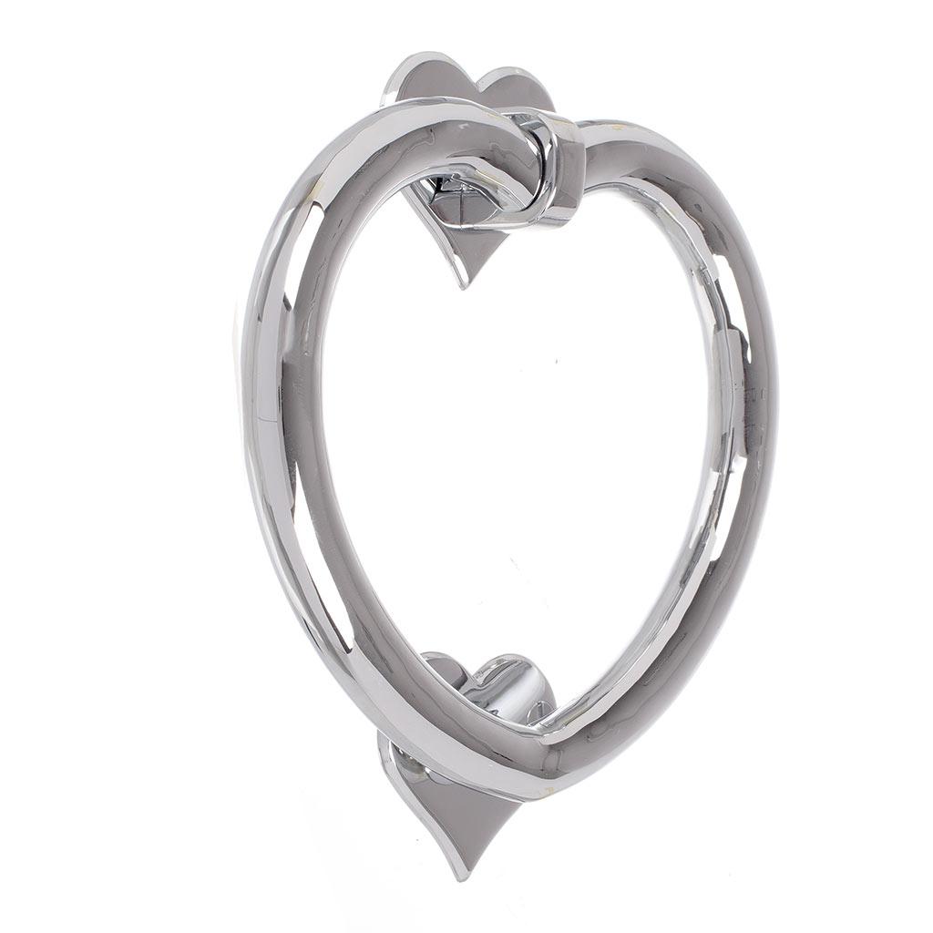 Nickel heart door knocker front door accessories jim lawrence - Door knocker nickel ...
