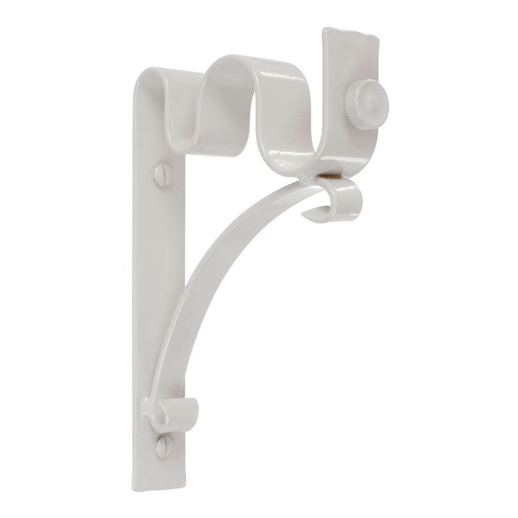 25/12mm Double Pole Standard Bracket in Clay