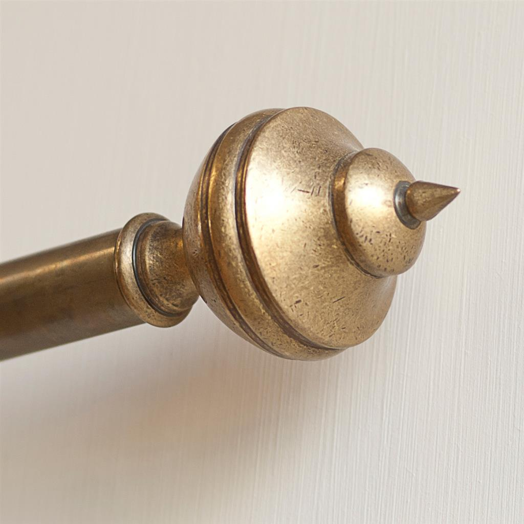 25mm Brass Empire Finial in Antiqued Brass