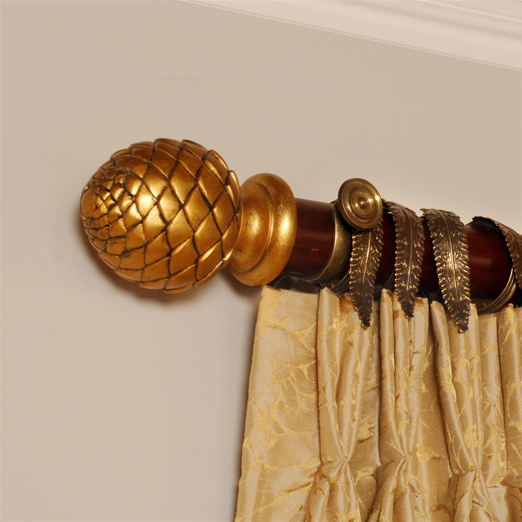 Gilded Mahogany Artichoke Finial(discontinued, only stock shown available)
