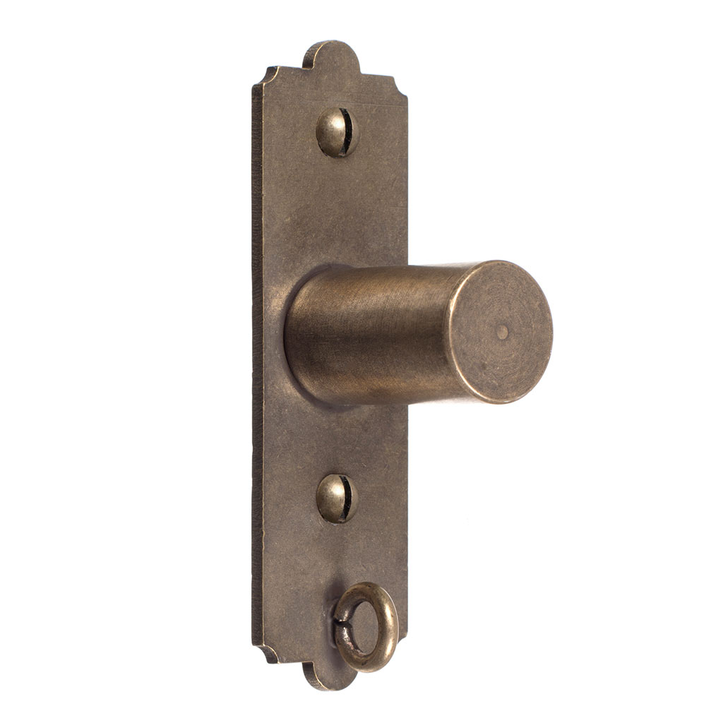 25mm Brett Recess Bracket in Antiqued Brass