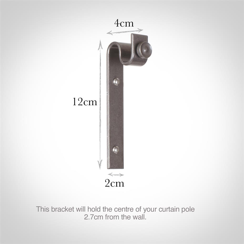 12mm Chapel Standard Bracket with thumbscrew inPolished