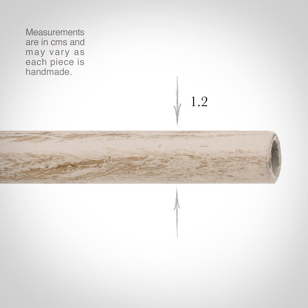 12mm Classic Pole in Old Ivory