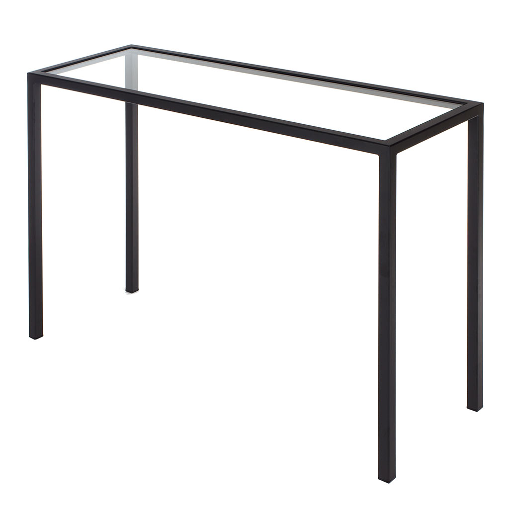 Cromer Console Table in Matt Black